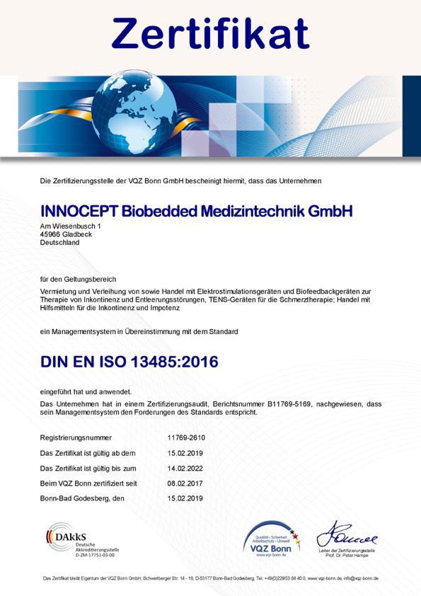 DIN ISO 13485:2016